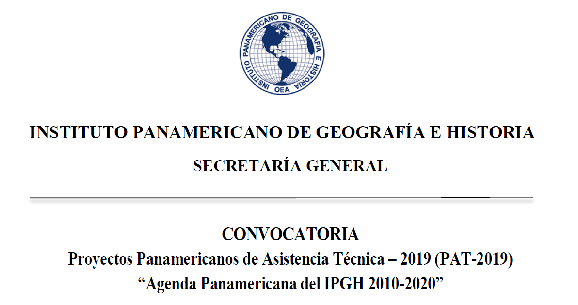 convocatoria proyectos at ipgh 2019