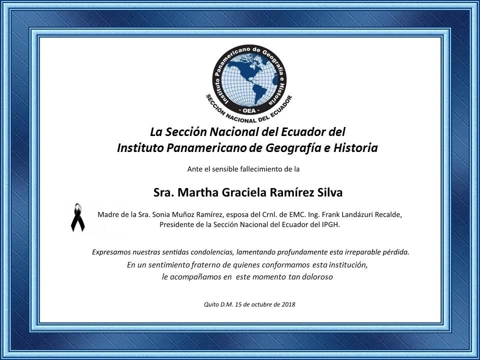 condolencias presidente ipghecuador