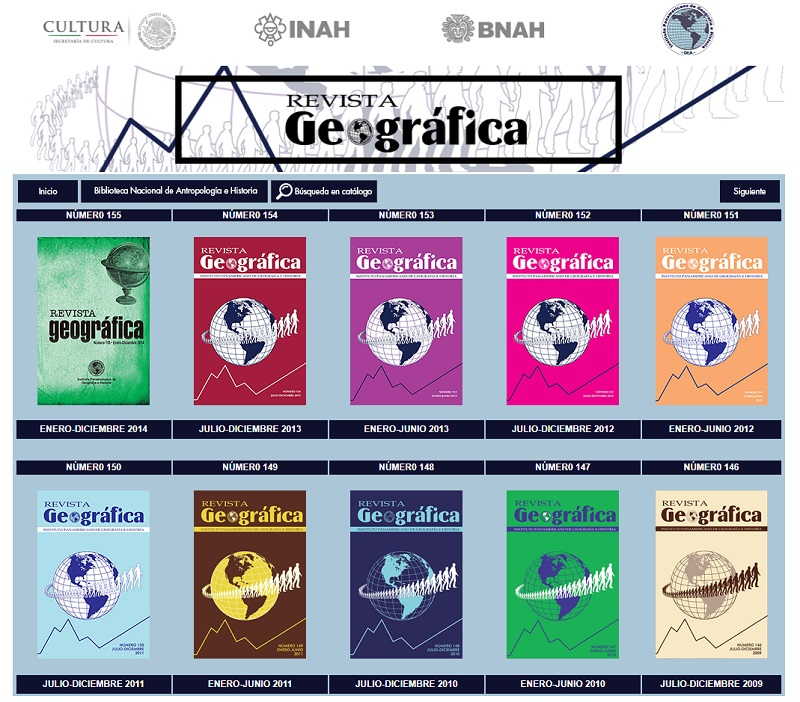 convocatoria revista geografica