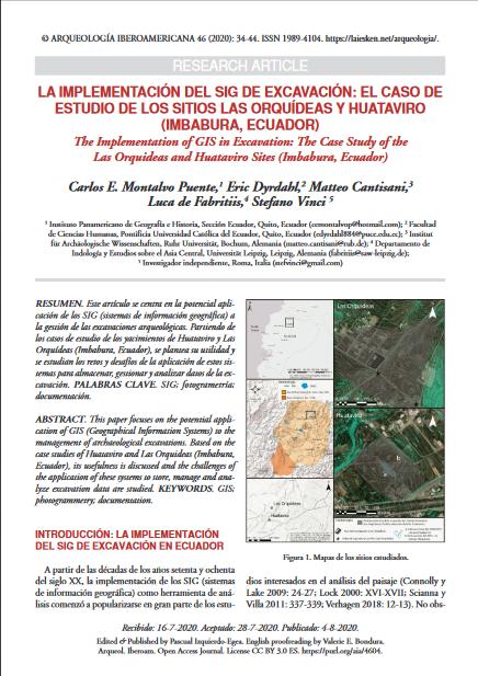 La implementación del SIG de excavación el caso de estudio de los sitios Las Orquídeas y Huataviro