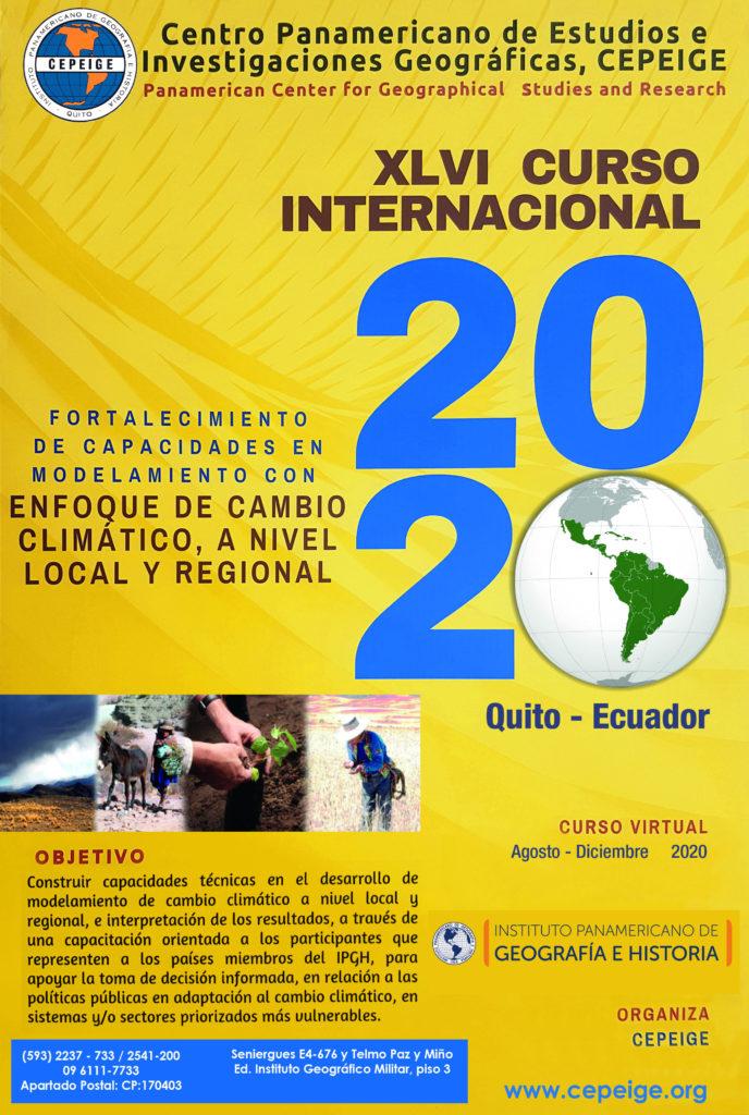afiche CEPEIGE CURSO INTERNACIONAL 2020