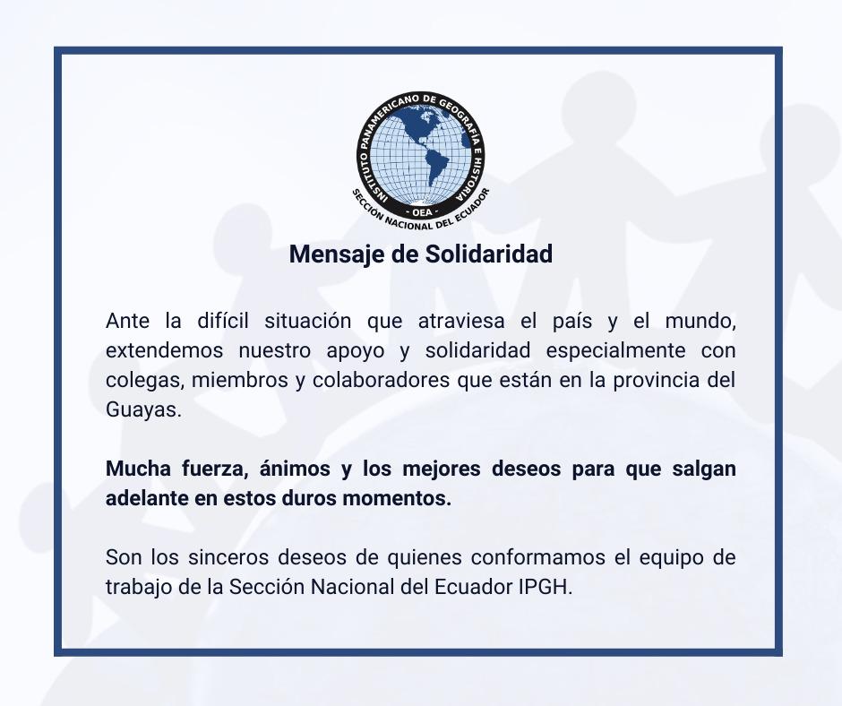 mensaje solidaridad