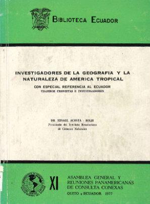 investigadores de la geografia y la naturalea de america tropical