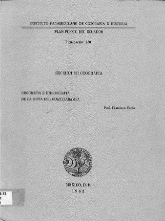 orografia e hidrografia de la hoya de guyllabamba