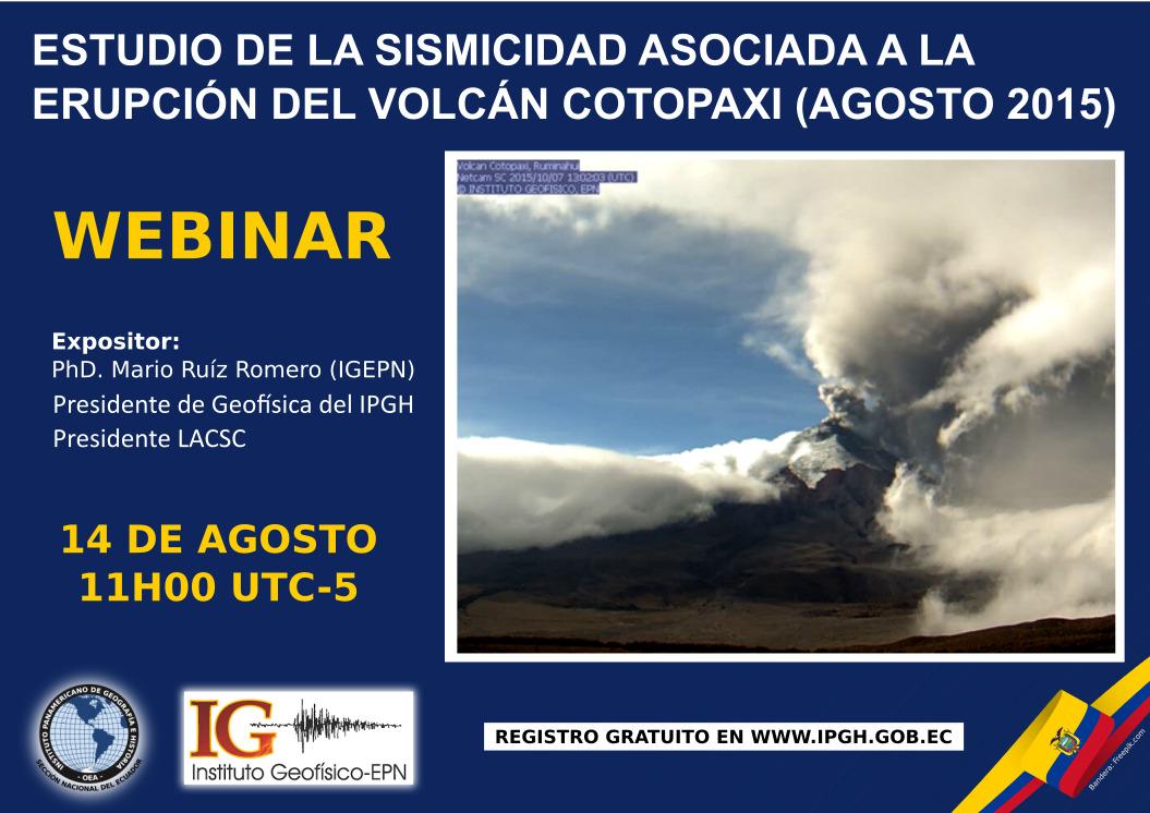 webinar estudio de la sismicidad volcan cotopaxi 2015