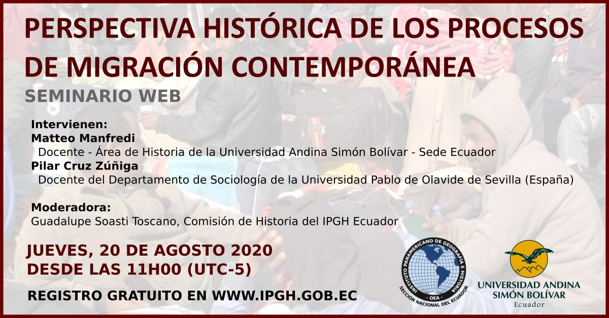 webinar perspectiva histórica migracion
