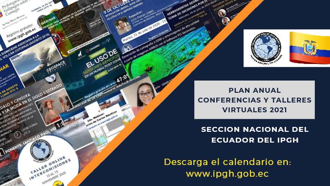 Calendario de Eventos Online IPGH Ecuador 2021
