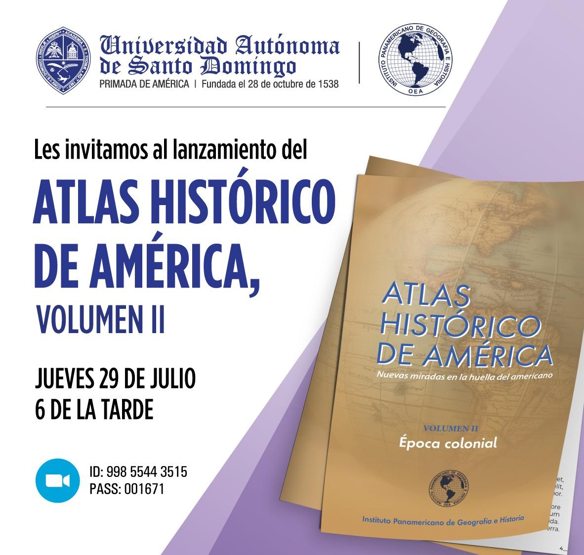 LANZAMIENTO ATLAS HISTOÌRICO 29 07 2021