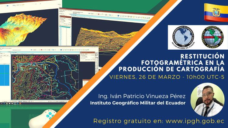 Webinar Restitución Fotogramétrica en la producción de Cartografía