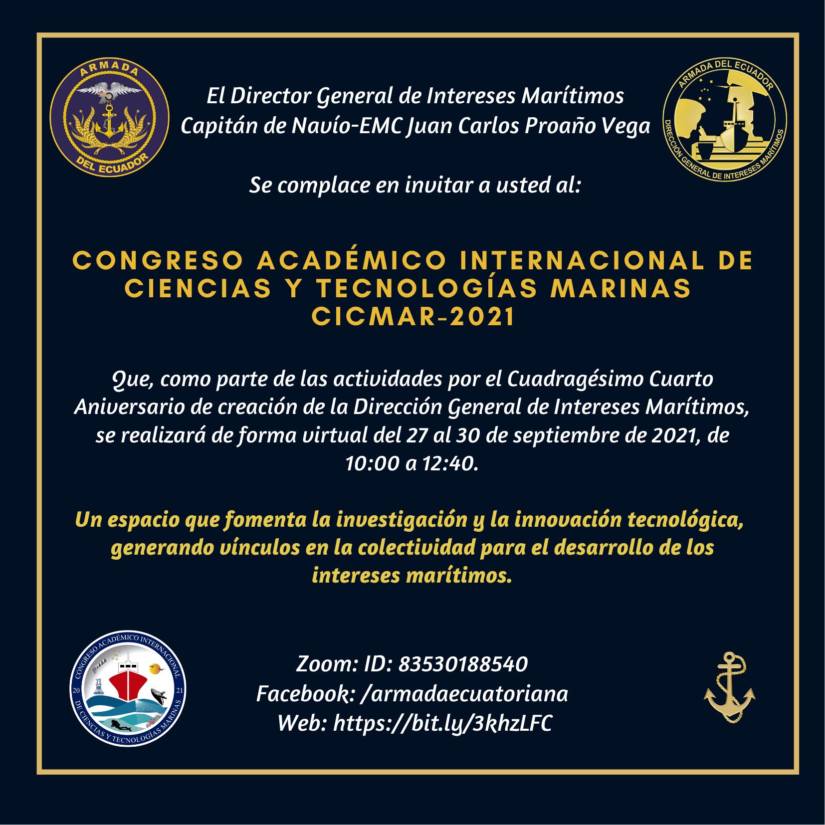invitacion cicmar2021