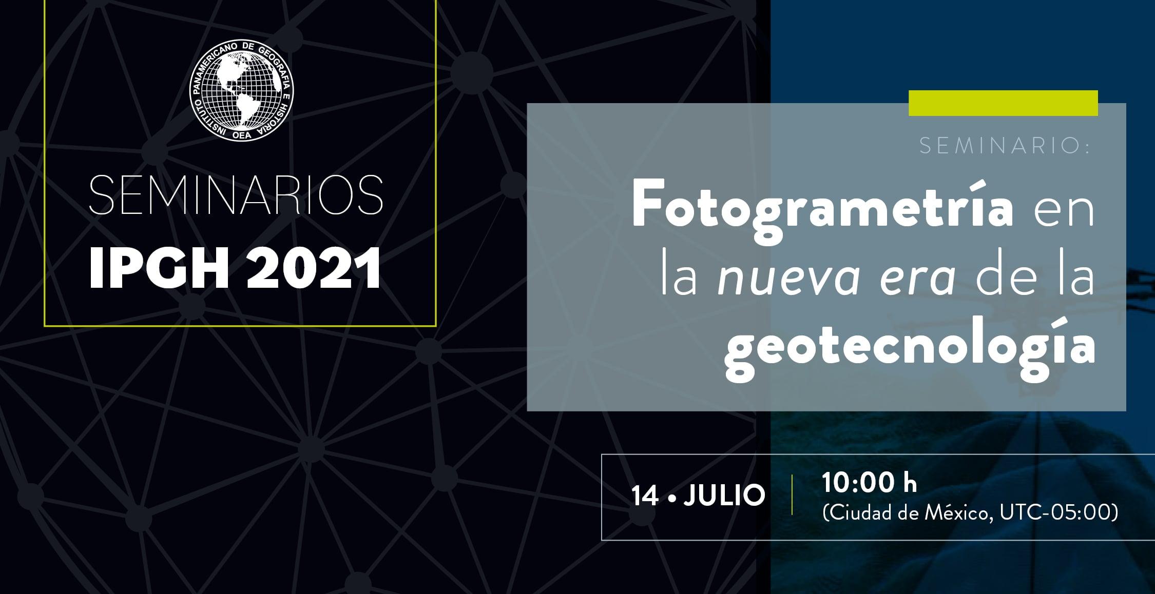 seminario ipgh fotogrametria en la nueva era de la geotecnologia